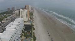 Daytona beach aerial view Stock Footage