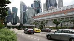 Famous The Fullerton Hotel in Singapore Stock Footage