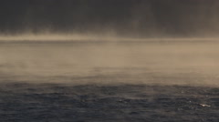 Mystical Fog over Water Windy Strange Ethereal Mist Pan Left HD Stock Footage