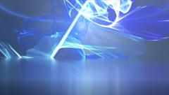 Colorful splashing lights abstract motion background Stock Footage