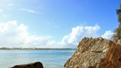 Small Cove in Macao Beach Stock Footage