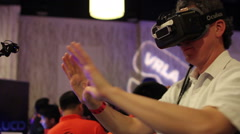 Virtual Reality Expo Stock Footage