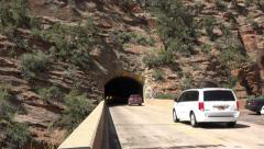 Mount Carmel Tunnel Zion National Park 4K Stock Footage