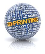3d printing icon - stock illustration