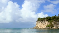 Zoom Shot of Cliff at Macao Beach - stock footage