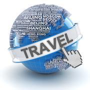Global travel, 3d render Stock Illustration