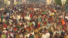 Kumbh Mela crowds,Allahabad,India Stock Footage