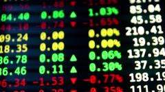 Trading Quotes Ticker Board Stock Footage