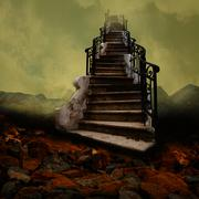 Stairway to the Sky - stock illustration