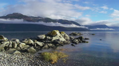 Rocky Tanani Point in Calm Water Scenic Lynn Canal Fjord Alaska TL Stock Footage