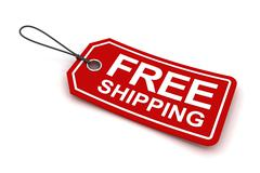 Free shipping tag, 3d render Stock Illustration