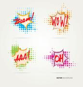Collection of sound effects Stock Illustration