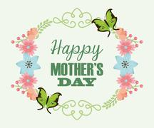 Stock Illustration of happy mothers day