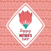 happy mothers day - stock illustration