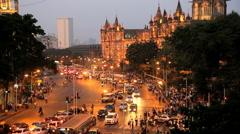 Mumbai India Asia Chhatrapati Shivaji Terminus Stock Footage