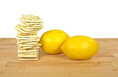 Stock Photo of lemons and soda crackers