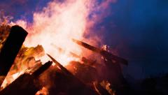 Viking Raiders Destroyed My Home In Fire! Stock Footage