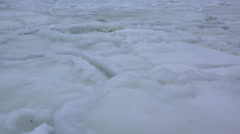 Waves of Slushy Ice in Arctic Storm Close 4K - stock footage