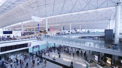 Hong Kong Airport. Arrival Hall. Establishing shot. - stock footage