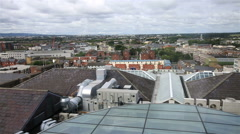 Dublin from the observation deck of Guinness Storehouse - stock footage