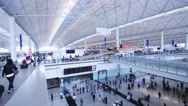Stock Video Footage of Hong Kong Airport. Arrival Hall.