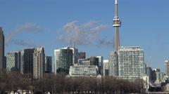 Toronto Skyline Spring 2015 4k footage Stock Footage