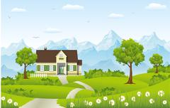 Country house Stock Illustration