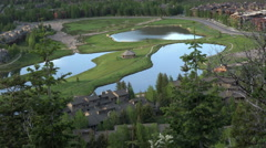Park City Deer Valley resort lakes summer 4K Stock Footage