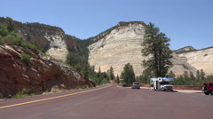 Parking overlook Zion National Park Utah 4K Stock Footage
