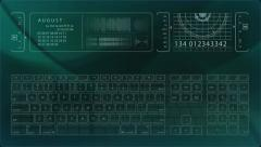 High Tech Holographic Keyboard Interface - stock footage