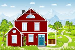 Charming country cottage Stock Illustration