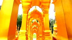 Dolly: Pagoda in Wat-Sawangboon at Saraburi, Thailand, HD 1080P Stock Footage