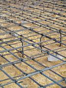 Reinforcement steel bars - stock photo