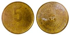 Old argentine coin Stock Photos