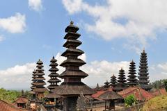 Largest Hindu temple Pura Besakih on Bali, Indonesia - stock photo