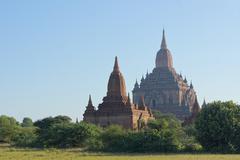 Sulamani Buddhist Temple in Bagan, Myanmar Stock Photos