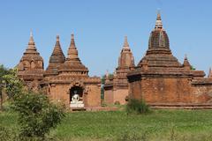 Ancient Temples in Bagan, Myanmar Stock Photos