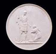 Plaster Medal. Stock Photos