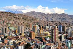 La Paz in the Andes, capitol Bolivia Stock Photos