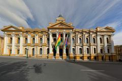 Bolivian Government Building, La Paz - stock photo