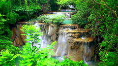 HD: Waterfall in tropical rain forest, 1920x108 Stock Footage