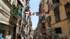 Typical alley in Naples, Italy. Stock Footage