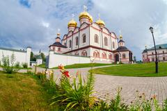 Cathedral of the Assumption of the Blessed Virgin Mary in the Iversky Monaste - stock photo