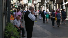 Busy street in Napels, Italy. Stock Footage