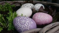 Colorfull Easter eggs Stock Photos