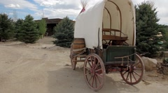 Covered Wagon - stock footage