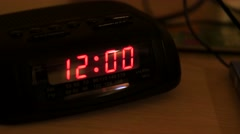 An alarm clock that has been reset - stock footage
