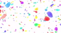 Flower petals rainbow tornado Cw 4K Footage