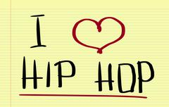 Stock Illustration of I Love Hip Hop Concept