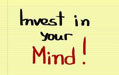 Stock Photo of Invest In Your Mind Concept